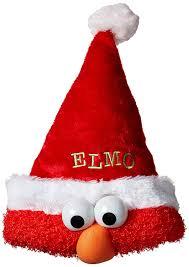 amazon com kurt adler sesame street 13 inch plush elmo santa hat