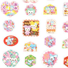 new year sticker small happy new year stickers with colorful animals set d