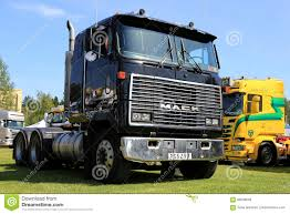 volvo cabover trucks black cabover mack mh ultraliner truck editorial stock photo