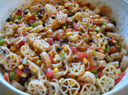 in the kitchen with lily mexican pasta salad