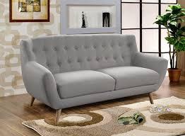 Canapé Fixe Confortable Design Au Canapé Fixe 3 Places Rihanna Gris Clair