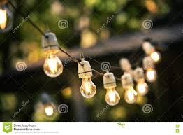 Hanging String Lights by Outdoor String Lights Hanging On A Line Stock Photo Image 78254703
