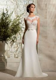 venice lace and chiffon georgette with satin waistband morilee