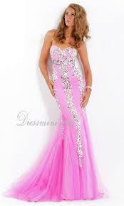 pink mermaid trumpet strapless long floor length sparkly prom
