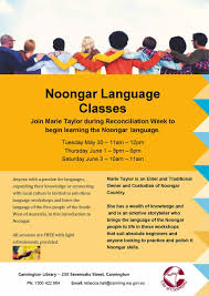 city of canning noongar language classes