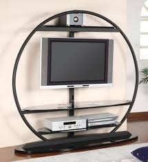 Round Fur Rug by Superb Round Unusual Tv Stands With Led Tv Above Chic Dvd Player