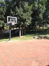 brick driveway half court boom elegant perfection m driveway