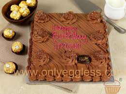only eggless egg free ferrero rocher cake
