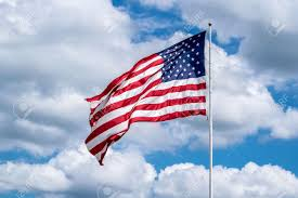 Flag Of The United States Of America United States Of America Usa Flag In The Wind Large Stock Photo