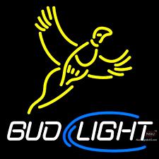 busch light neon sign yellow busch light pheasant neon sign neonsigns usa inc
