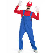 Size Halloween Costumes Men Aliexpress Buy Super Mario Halloween Costumes Men Fancy