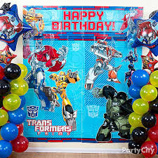 transformers birthday decorations birthday party balloon decoration ideas party favors ideas