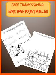free thanksgiving writing printable worksheets