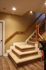 basement with stair and multiple landing basement stair design
