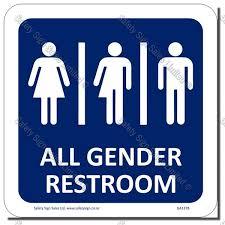 Gender Neutral Bathroom Signs - restroom signs safety sign sales limited