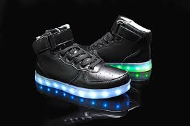 high top light up shoes led shoes women black high top remote