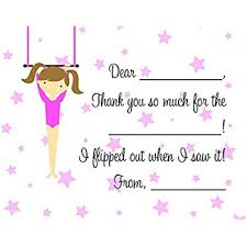 birthday thank you notes 20 bowling fill in children birthday thank you