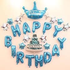 boy birthday boy birthday decoration ideas happy birthday letter balloons kit