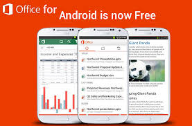android office microsoft office mobile now free on android and ipads phones
