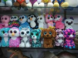 2017 ty beanie boos big eyes plush toys dolls animals bear rabbit