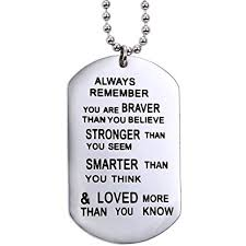 inspirational necklaces eloi always remember you are braver than you believe
