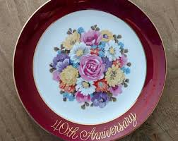 40th anniversary plate anniversary plate etsy