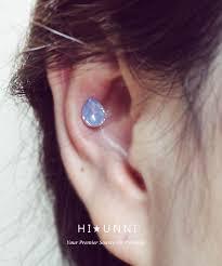 helix cartilage earrings 16g big teardrop cartilage earring cz stud earrings helix conch