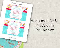 printable book request card for rainbow theme invitation 1st