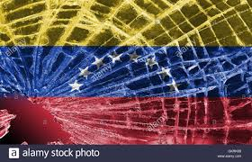 Flag Venezuela Broken Glass Or Ice With A Flag Venezuela Stock Photo Royalty