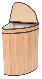 wooden laundry hamper with lid birdrock home corner laundry hamper with lid and cloth liner