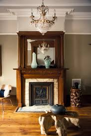 livingroom brooklyn large fireplace antique pier mirror available from my brownstone