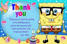 spongebob birthday party invitations free printable invitation