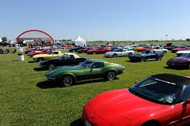 mid america corvette corvette parking only at the rod power tour luncheon held at
