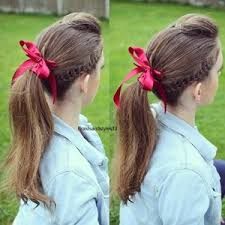 ribbon ponytail hair 1 polyvore