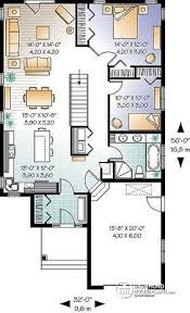 Single Story Open Concept Floor Plans House Plan W3263 Detail From Drummondhouseplans Com