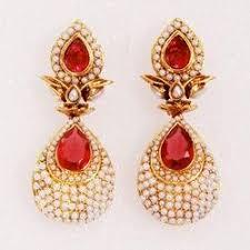 design of earing designer earring pearl earring exporter from mumbai