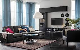 Ikea Living Room Set Modernize With Clean Lines And Leather Ikea