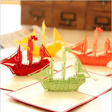 wedding gift greetings aliexpress buy new 3d ship happy birthday pop up cards