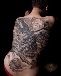 45 most wonderful collection of owl tattoos on back golfian com