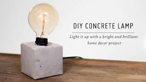 How To Do Minimalist Interior Design Diy Concrete Lamp Home Decor Tutorial Mr Kate Youtube