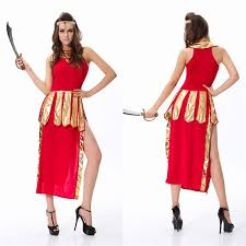 Greek Goddess Halloween Costume Halloween Dress Ancient Greece Bellona Clothing Stage Performance