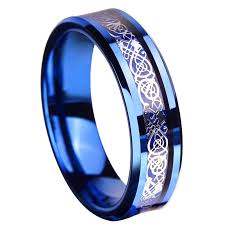 titanium celtic wedding bands free shipping queenwish 6 8mm tungsten carbide ring silvering
