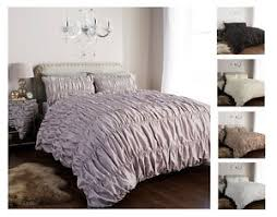 Luxury Bed Linen Sets Designer Ruched Duvet Cover Set With Pillow Cases Luxury Bed