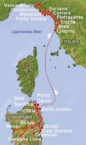 Lucca Italy Map Leuchtende Traumküste Und Smaragd Insel Holiday Reisen