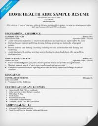 French Resume Sample by Home Health Aide Resume Sample Jennywashere Com