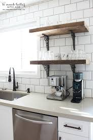 kitchen shelf rustic industrial kitchen shelves so much better with age