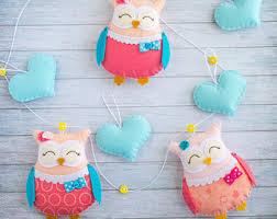 Owl Room Decor Nursery Decor Owl Garland Newborn Gift Party Banner Owl