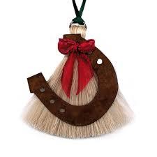 horseshoe ornaments horsehair christmas ornaments at tack co