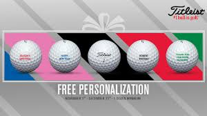 free personalization this season on all titleist golf