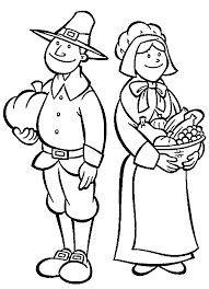 printable pilgrim coloring pages for thanksgiving